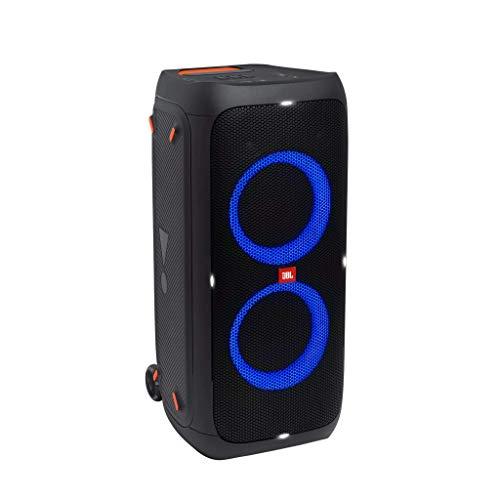 JBL PartyBox 310 Speaker Wireless Bluetooth Portatile con Effetti di Luce, Cassa Altoparlante Impermeabile IPX4 per Feste, Ingresso per Microfono e Chitarra, USB, fino a 18 h di Autonomia, Nero