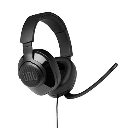JBL Quantum 300 Cuffie Gaming Over-Ear con Filo, Headset da gioco con Microfono e Surround, compatibilità Multipiattaforma PC e Console, Colore Nero