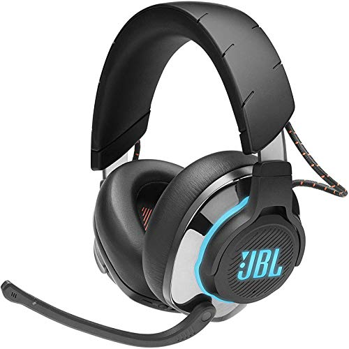 JBL Quantum 800 Cuffie Gaming Over-Ear Wireless 2,4 Ghz e Bluetooth 5.0, Headset da gioco con Microfono, RGB e Surround, compatibilità Multipiattaforma PC e Console, Colore Nero