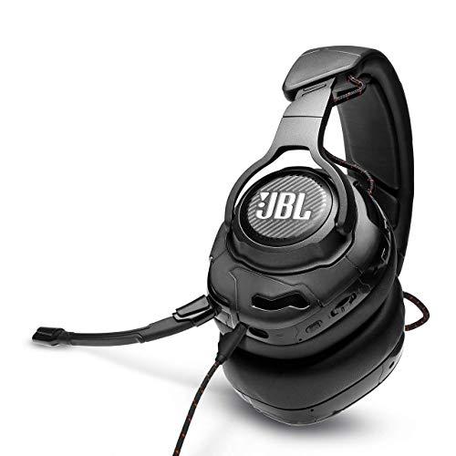 JBL Quantum ONE Cuffie Gaming Over-Ear con Cavo USB, Headset da gioco con Microfono, QuantumSPHERE 360 con Sensori di Movimento della Testa, compatibilità Multipiattaforma PC e Console, Nero