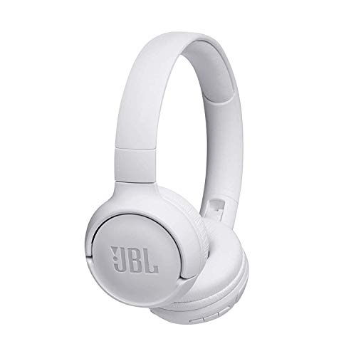 JBL Tune500BT Cuffie Wireless Sovraurali con funzione Multipoint e Ricarica veloce, Cuffie On-Ear Bluetooth con connessione a Siri e Google, Fino a 16h di autonomia, Bianco