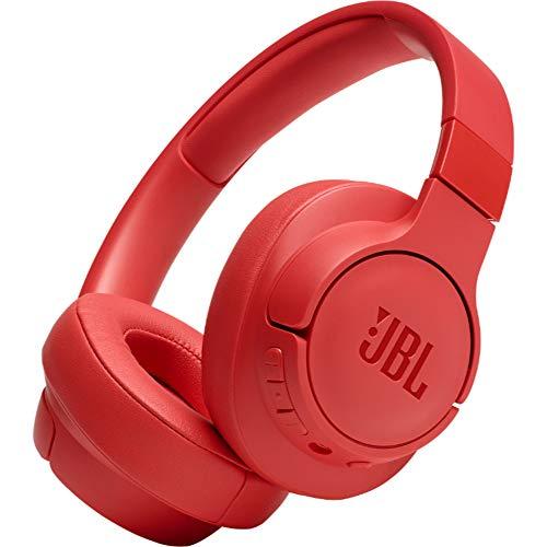 JBL TUNE700BT Cuffie Over-Ear Wireless Bluetooth, Cuffia pieghevole senza fili per Musica, Chiamate e Sport, Fino a 27h di autonomia, Colore Rosso corallo