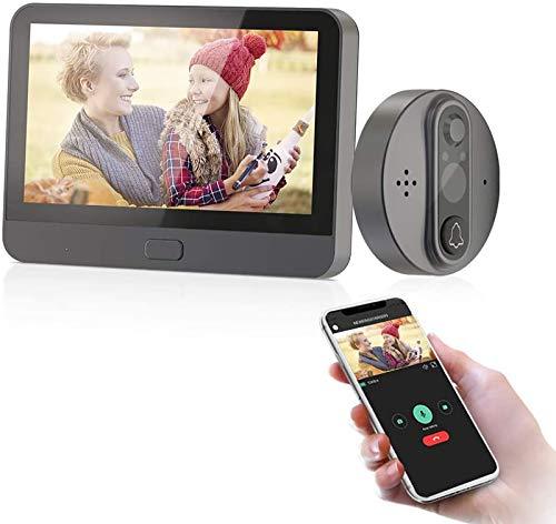 JeaTone Smart Wifi Spioncino Elettronico Digitale Porta Blindata Con Sensore Di Movimento E LCD Da 4,3 Pollici/AHD 720P/Visione Notturna/Monitoraggio Remoto/Fotografia/Video/Tuya APP