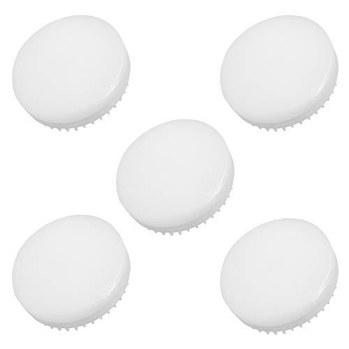 Jenyolon GX53 - Lampadine a LED, luce bianca calda, 3000 K, 8 W con 800 lm, non dimmerabili, ricambio per lampadine alogene da 70-80 W, angolo di diffusione di 180°, CRI> 85, GX53, confezione da 5