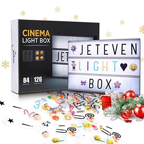 Jeteven LED Lightbox di Luce bianca con 210 lettere per Natale,Casa, Festa,Matrimonio,Compleanno,Negozio