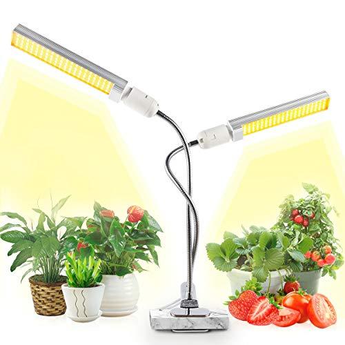 JEVDES - Lampada da pianta, 100 W, per la crescita delle piante a spettro completo per le piante da interni, serra idroponica