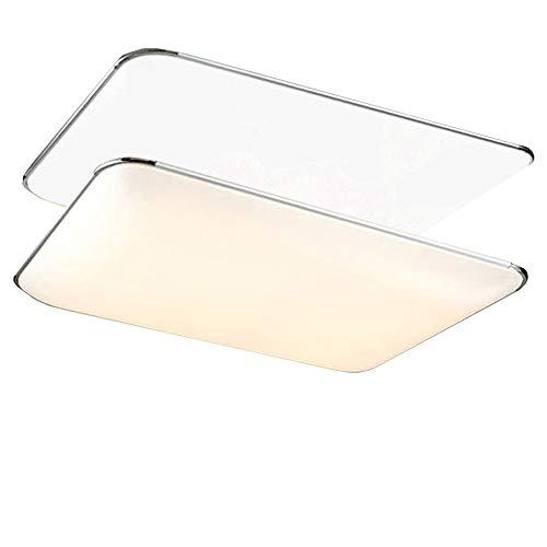 JINPIN Plafoniere a LED ultra-sottili da 24W-72W perfette per corridoi, cucine, bagni, sale studio, camere da letto, illuminazione interna del soggiorno (72W Dimmerabile)