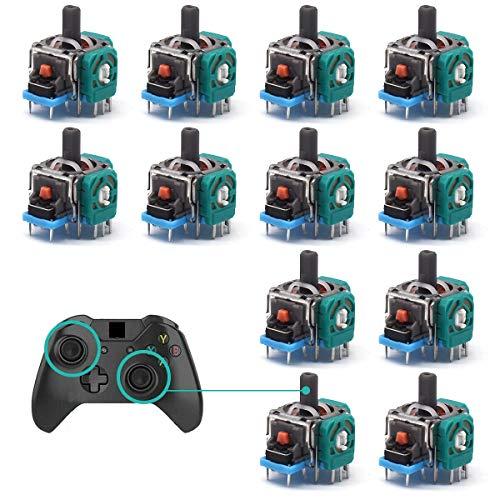 Joystick analogico Ricambio,RoadLoo 12 Pacchi Sostituzione del sensore del modulo analogico Joystick Controller Wireless Joystick analogico sostitutivo per Controller PS4 Xbox Elite