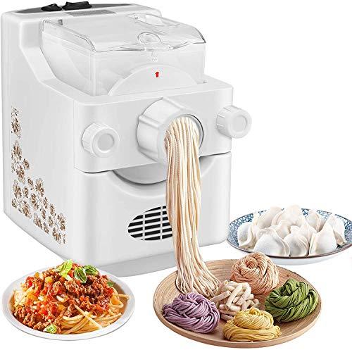 Kacsoo Macchina per Pasta elettrica, Macchina Automatica per la Produzione di tagliatelle multifunzionali per Uso Domestico con 9 + 3 Forme di Pasta tra Cui Scegliere per Fare Spaghetti Penne.