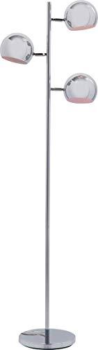 Kare Lampada A Stelo Calotta Cromo, Argento, 151 x 25.5 x 40 cm