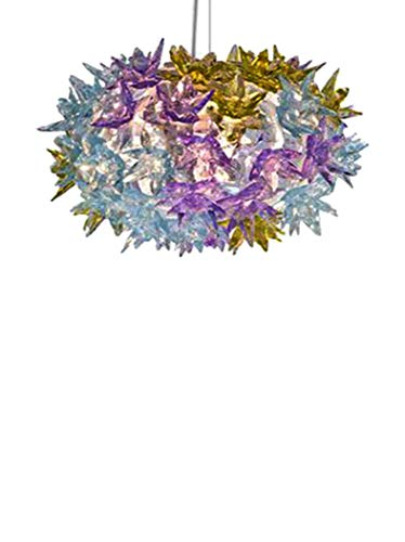 Kartell Bloom, Lampada a Sospensione, Piccola, Multicolore (Lavanda)