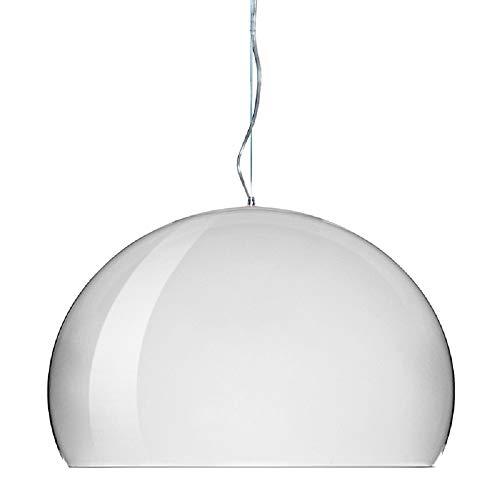 Kartell FL/Y Lampada a Sospensione E27, 15 W, Bianco Lucido, 52 x 33 x 241 cm