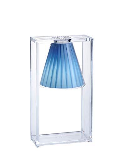 Kartell Light Air Lampada da Tavolo 5 W, Blu(Cristallo Azzurro)
