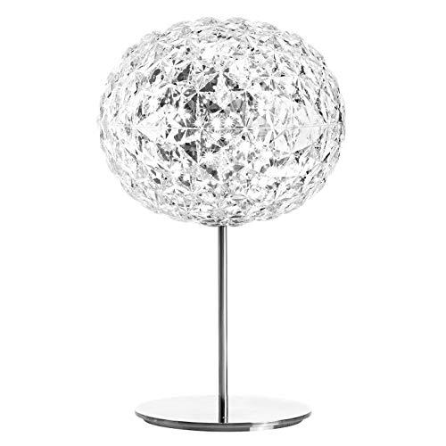 Kartell Planet Lampada da Tavolo con Stelo, Dimmerabile 22 W, Trasparente(Cristallo), 31 x 53 cm