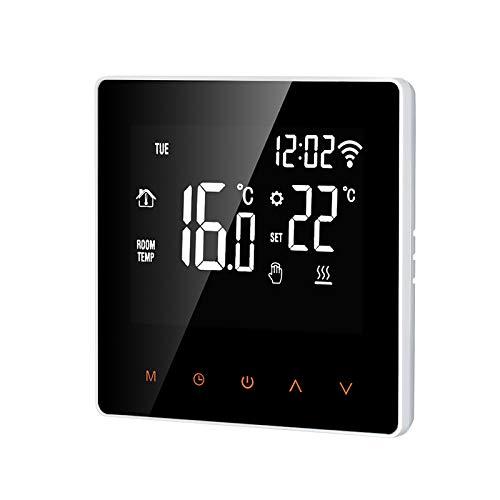 Kecheer Termostato wifi per caldaia gas/acqua programmabile,Termostato caldaia da parete,termostati digitali compatibile con Tuya/SmartLife app