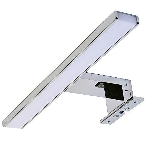 Kibath 60 cm Applique LED GUE per illuminazione del bagno, massima luminosità con i suoi oltre 69 LED che danno 13,8 W e 1150 lumen, 13,8 W, cromato