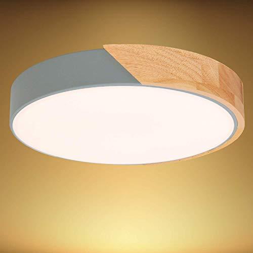 Kimjo Plafoniera LED Soffitto 24W Bianco Caldo, LED Plafoniera 3000K 2400LM, Lampada da Soffitto Moderna Rotonda per Soggiorno Corridoio Camera da letto Cucina Φ30 cm