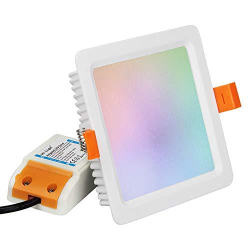 Kingled – MiBoxer FUT064 Plafoniera Led Quadrato Faretto da Incasso 9W 720lm RGB+CCT 240V 2,4GHz Mi Light® Cod 3378