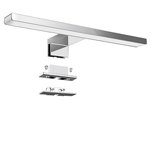 KINGSO Lampada per Specchio LED Bagno IP44 6W 600lm Lampada per Armadio Specchio Applique da Interno Bagno Moderno Apparecchio 4000K Bianco Neutro AC 230V 300x30x12mm