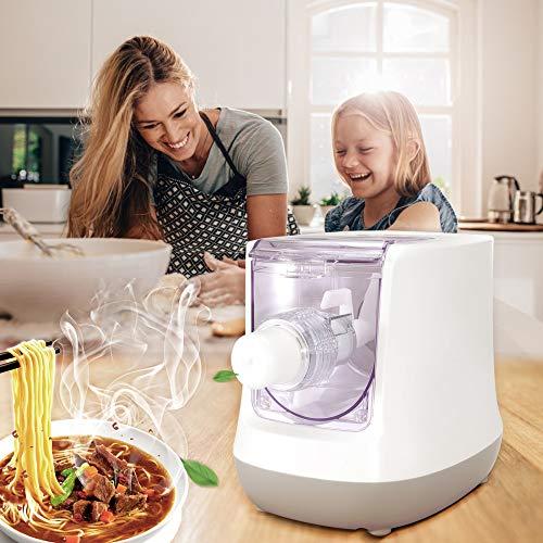 KKTECT Macchina per pasta elettrica Macchina per tagliatelle intelligente a 13 stampi Materiale di sicurezza per alimenti con schermo LCD per spaghetti/maccheroni/pelle di gnocco in 15 minuti