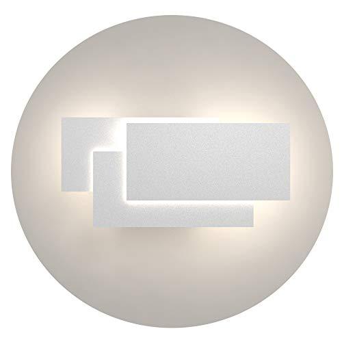 Klighten Applique da Parete Interni 24W Moderno Lampade da Parete IP20 Bianco neutro 4000~4500K Applique Interni Decorativa per Soggiorno, Camera da letto, Corridoio, Scale