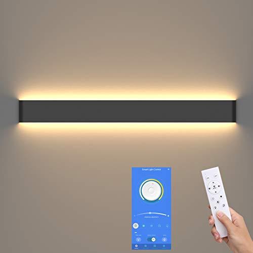 Klighten Applique Up and Down indoor, applique bagno, 83cm, luminosità e colore dimmerabili, 3000K-6000K, 30W, Nero