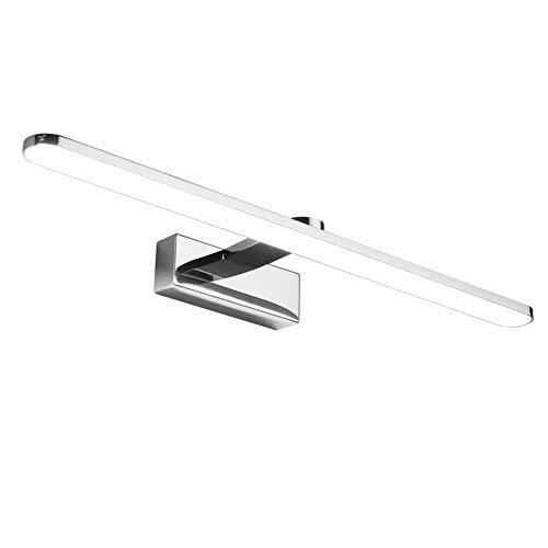 Klighten Lampada a Specchio a LED Bagno 12W Lampada 59cm Specchio Applique da Parete Moderna IP44 Luce Specchio Bagno Bianco Neutro 4500K