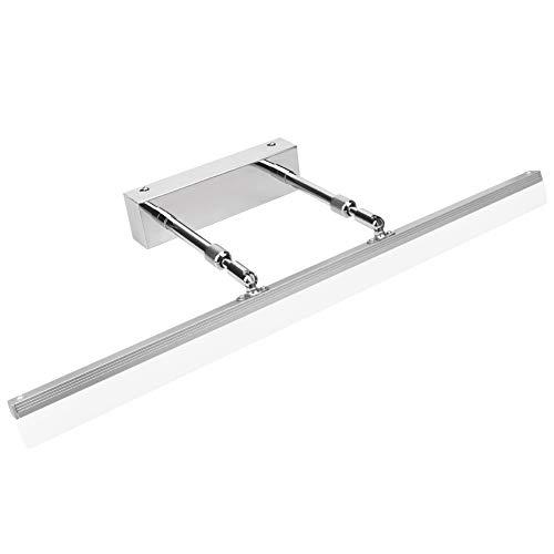 Klighten Lampada da specchio a LED 14W Lampada da bagno, Bianco freddo 5500K Lampada da parete IP44 Lampada da bagno a specchio acciaio inox 60CM