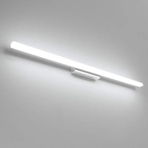 Klighten lampada da specchio, lampada da specchio da bagno 20W Lampada da parete a LED, lampada da bagno da bagno 90CM per lampada da specchio da bagno bianca fredda 6000K a specchio
