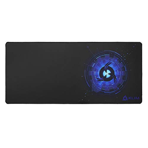 KLIM Mousepad XL - Superficie estesa - Tappetino per Mouse Extra Large da Gaming - Base in Gomma Antiscivolo - Superficie Testurizzata ad Alta Precisione - 900 x 400 x 4 mm - Blu