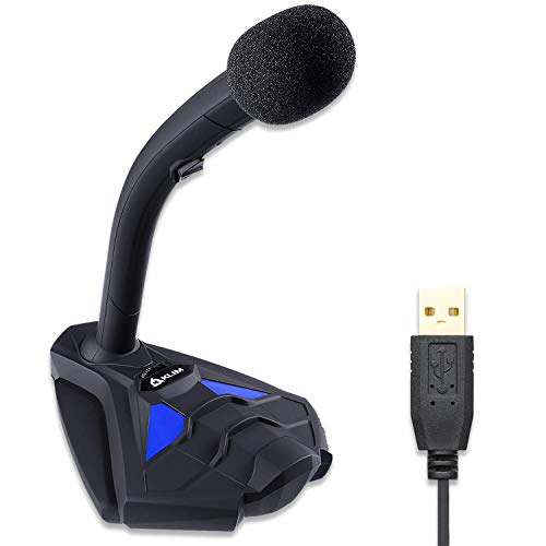 KLIM™ Voice V2 + Microfono USB da Scrivania + novità 2020 + Suono di Alta qualità + Registrazione e Riconoscimento Vocale, Live, Youtube, Podcast + Microfono PC Compatibile Windows Mac PS4 + Blu