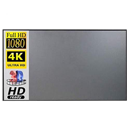 KOET Schermo Proiettore Portatile Schermo 16:9 HD 4K Pieghevole Anti-Crease Portatile Proiezione Film Schermo per Home Theater Indoor HD Outdoor Schermo Proiettore