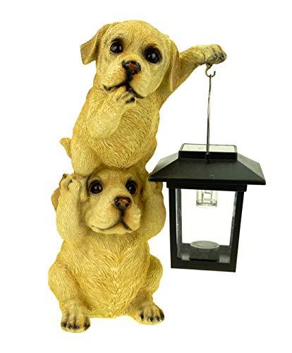 Kremers - Scrigno del tesoro, coppia di cani, torre con lanterna solare, 24 cm