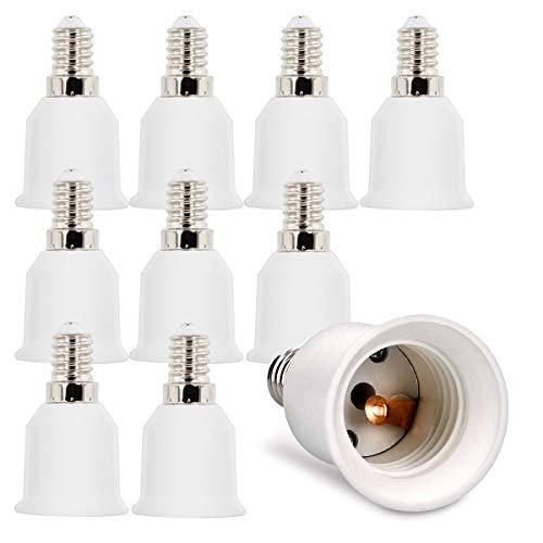 kwmobile 10x Adattatori Lampadine da E14 a E27 - Virole Trasformatori Portalampada per Luci da Tavolo e Lampadario - Attacchi Lampadina LED e Alogena