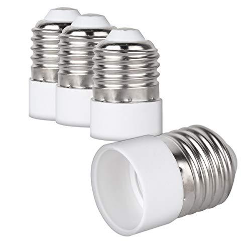 kwmobile adattatore lampadina da E27 a E14-4x attacchi portalampada da E-27 a E-14 convertitore per lampadine alogene LED a risparmio energetico
