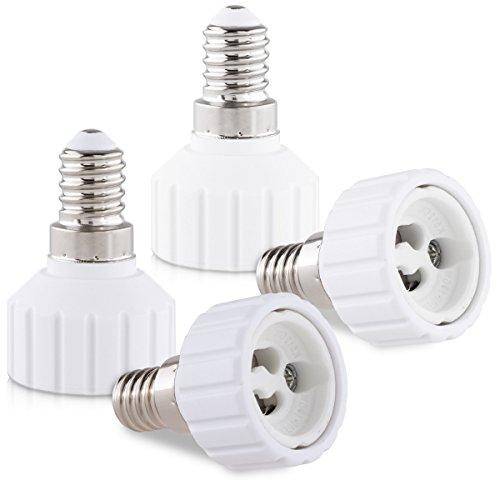 kwmobile adattatore lampadina E14 GU10-4x attacchi porta lampada da E14 a GU10 convertitore per lampadine alogene LED a risparmio energetico