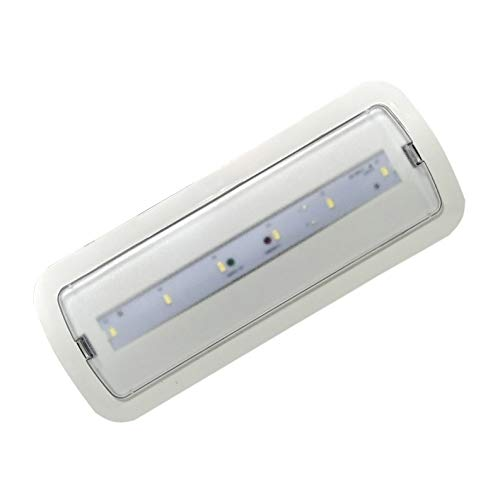 (LA) Luce LED di emergenza, da incasso o superficie 3W, 200 lumen, 3 ore di autonomia, Cool White 6000K - 200 Lumen!