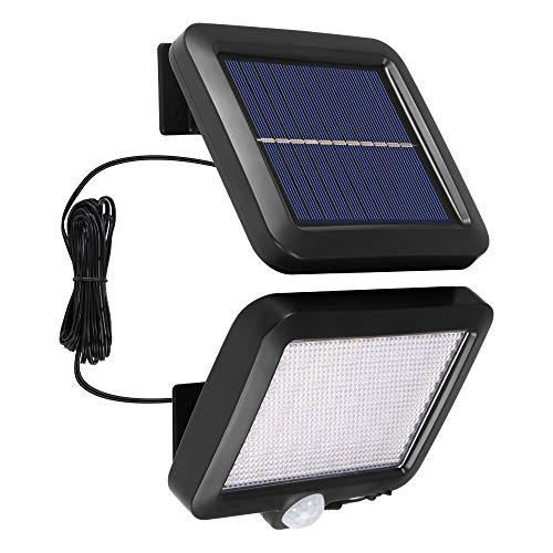 Laiashley - Lampada da parete a energia solare, 56 LED, con sensore di movimento, luce solare, impermeabile, per garage, portico, cortile, vialetto, giardino