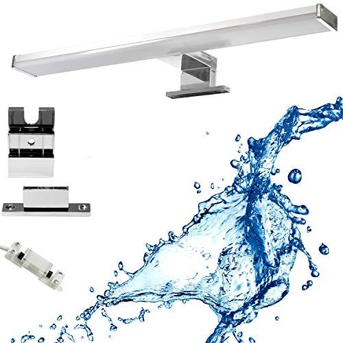 Lampada a LED per specchio da bagno, 1200 lm, 15 W, luce bianca neutra, 4000 K, lampada da parete IP44, 230 V, in alluminio, lampada da specchio, lunghezza del prodotto 78 cm