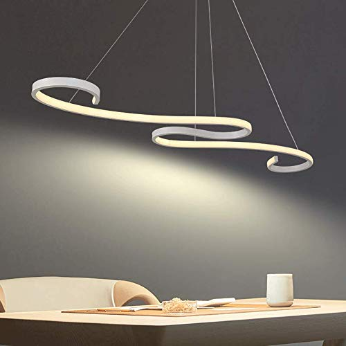 Lampada a sospensione moderna a soffitto, arte moderna a LED unica con 48W 6000K bianco, utilizzata per soggiorno, ristorante, camera da letto ecc.