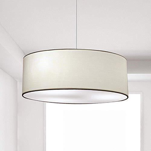 Lampada a Sospensione, SPARKSOR Lampada da soffitto Lampada Plafoniera in tessuto, 45 cm di diametro, lampada rotonda, 3 * E27, per Camera da letto, Sala da pranzo e Soggiorno