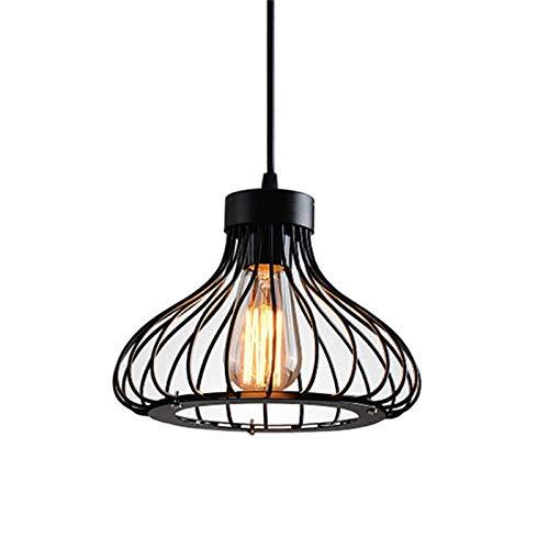 Lampada a Sospensione Vintage Industriale Lampadario da Soffitto per lampadine LED E27, Palalume Gabbia in Ferro Classico e Cavo Regolabile, Lampada da Soffitto per Ristorante Cucina Bar Caffetteria