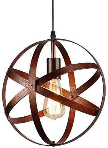 Lampada a Sospensione Vintage,Lampadario Industriale, E27 Retrò Paralume in Ferro Cavo Regolabile Per Il Ristorante Dining Room Kitchen 30cm