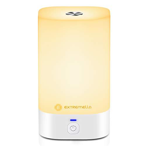 Lampada da comodino Extremella per camera da letto e soggiorno, luce notturna a LED regolabile tramite comando tattile con 256 colori RGB, regolazione continua, 4 modalità di illuminazione, LQ-01.