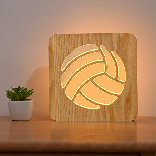 Lampada da letto in legno, illusione ottica 3D, luce notturna a LED personalizzata, per San Valentino, matrimonio, compleanno, regalo per ragazze (colore 6).