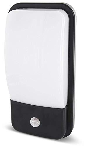 Lampada da parete a LED 2 in 1, IP65, con sensore di movimento e sensore crepuscolare, 20 W, 1600 lm, luce bianca calda (3000 K)