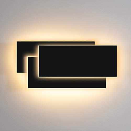 Lampada da Parete LED 12W IP20 Applique da Parete Interni Bianco Caldo 2700~3200K Decorativa per Soggiorno, Camera da Letto, Corridoio, Scale