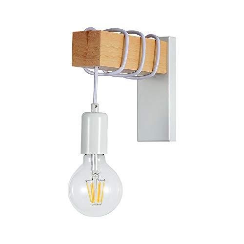 Lampada da Parete Retrò,Applique Vintage,Lampada da Lettura per per Corridoio,Camera da letto,Soggiorno E27