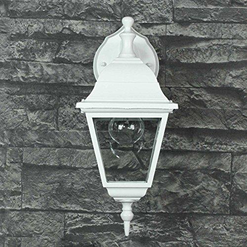 Lampada da parete rustico bianco bianco LED adatto IP44 1x E27 a 60W 230V cortile luce illuminazione ingresso giardino esterno muro lampada da parete nostalgico