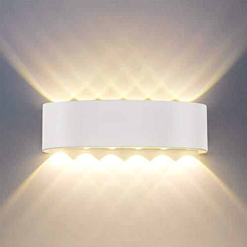 Lampada da parete,Moderno 12W LED Interni Applique da parete decorativa per soggiorno,camera da letto,corridoio,scale,percorso (Bianco)
